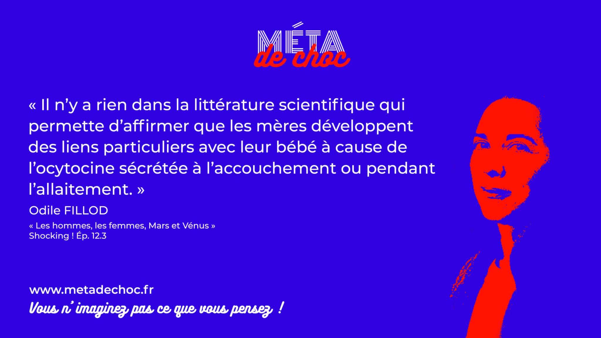 Thème du mème :  | Citation :  | Auteur.rice : Odile Fillod | Émission : Les hommes, les femmes, Mars et Vénus | Image d'illustration :