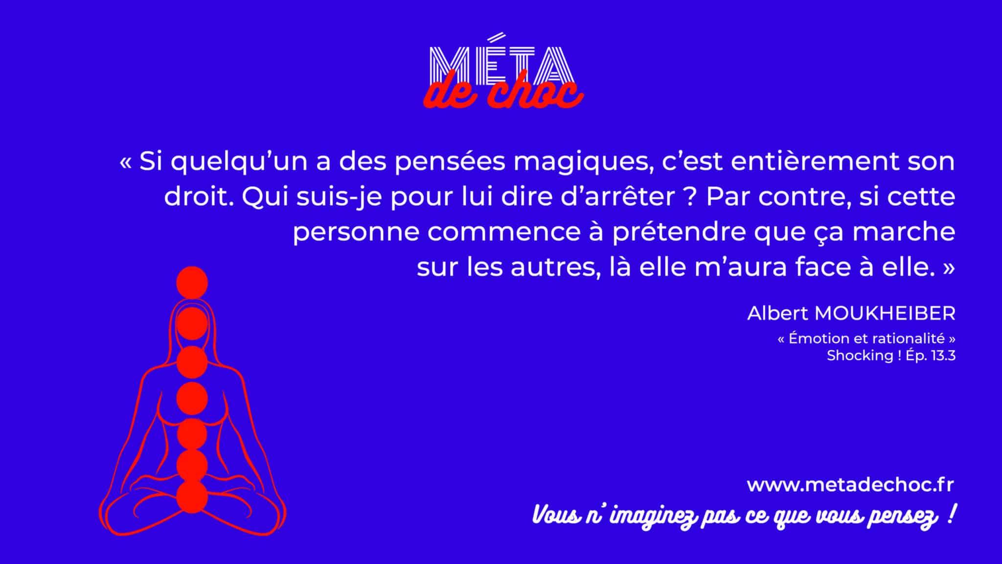 Thème du mème :  | Citation :  | Auteur.rice : Albert Moukheiber | Émission : Émotion et rationalité | Image d'illustration :