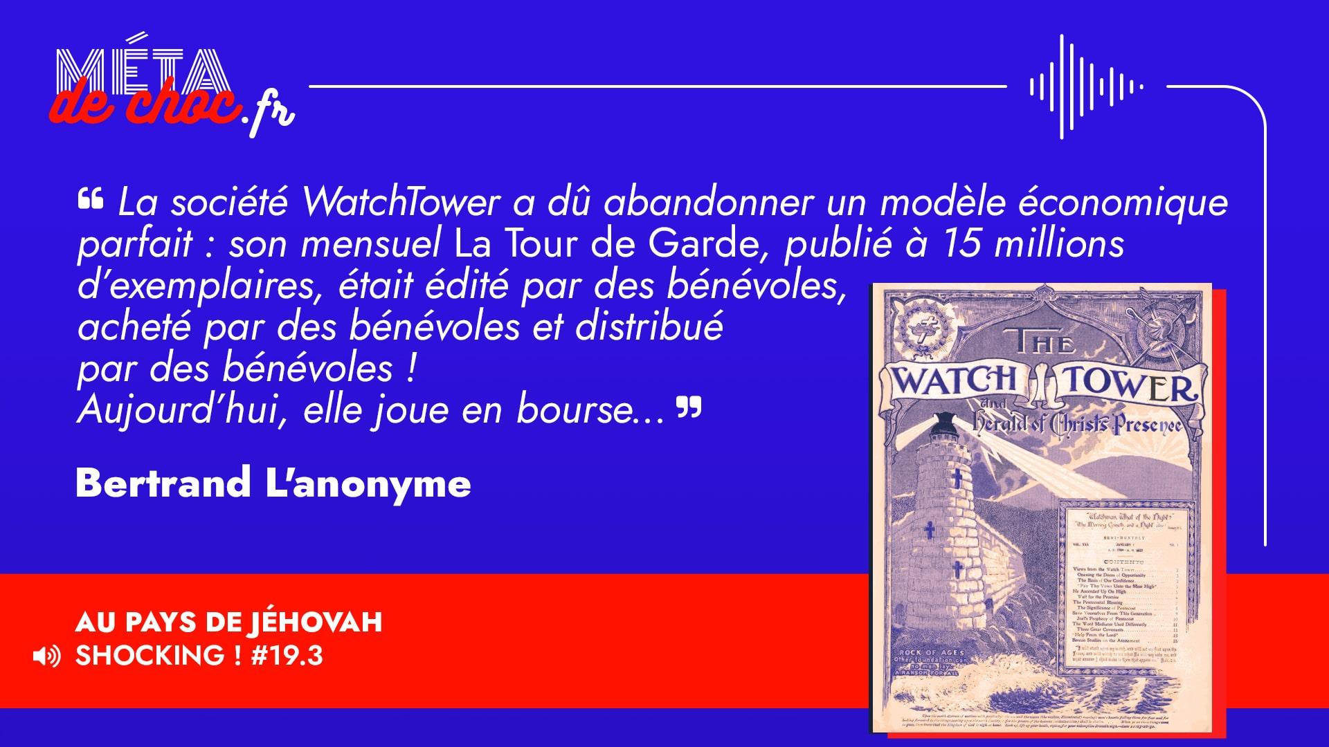 Thème du mème :  | Citation :  | Auteur.rice : Bertrand L'anonyme | Émission : Au pays de Jéhovah | Image d'illustration :